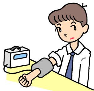 血圧測定による変化
